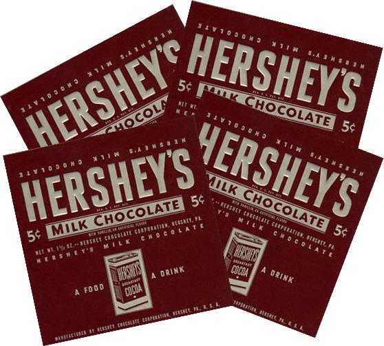 Hershey's Plain Chocolate Wrappers - 4 Pack